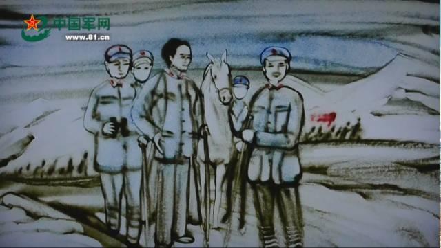 纪念长征胜利80周年军网原创沙画(一):雄关漫道
