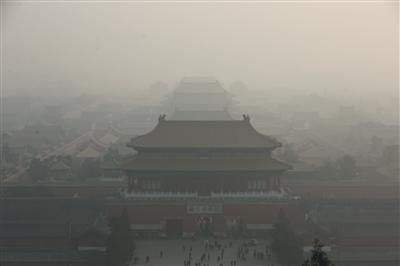 北京空气重污染橙色预警再次延期 未来三天霾天气持续