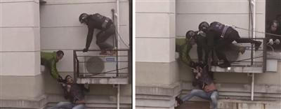 小偷爬墙挥长刀对峙28小时被擒 警方:尊重生命