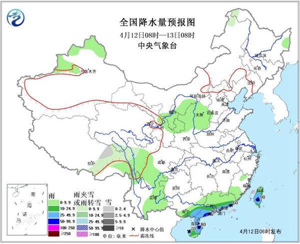 长江中下游持续回温 【广东】等局地有【暴雨】
