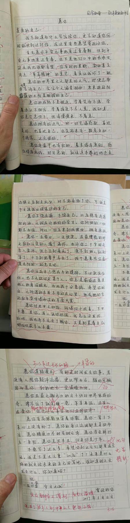 初二女生作文《愿你》走红 网友质疑网络小说看多了