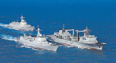 中国海军成立68周年:航行在建设世界