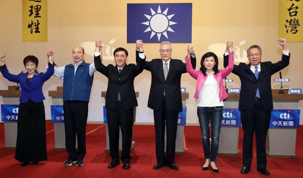 国民党6候选人签