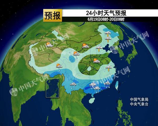 北方多阵雨高温缩减 明起江南雨势增强