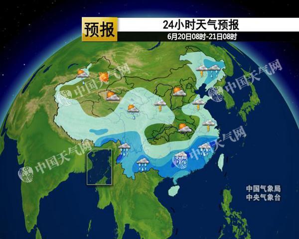 江南华南强降雨持续 北方旱区多雷阵雨