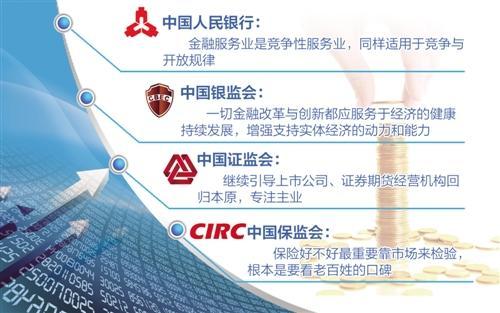 """""""一行三会"""":金融业改革开放的决心不能动摇"""