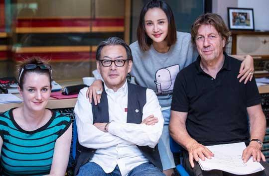 張歆藝赴比利時為電影錄音 梅林茂譜曲并參與錄制