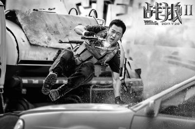 """《战狼2》口碑炸裂4天票房破9亿 吴京获赞""""史泰龙"""""""