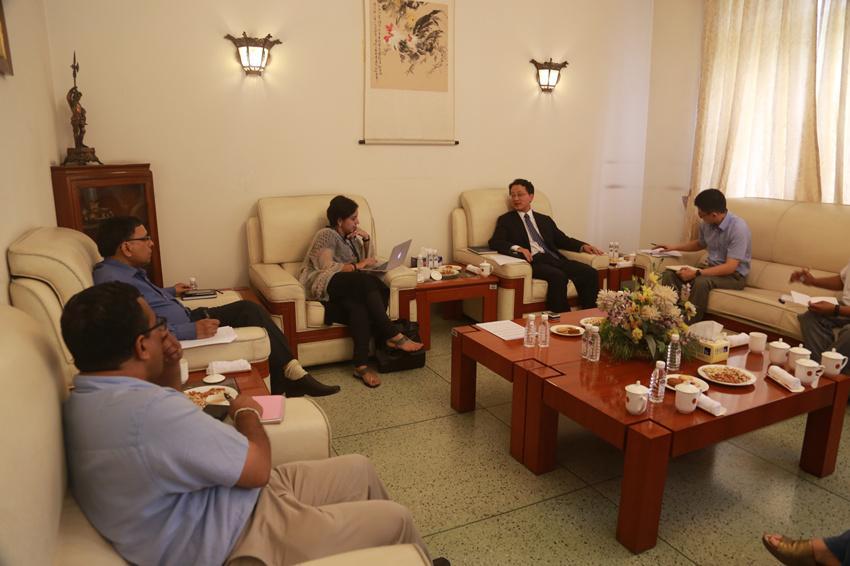 中国驻印使馆向印媒介绍中方立场:不要低估中方决心