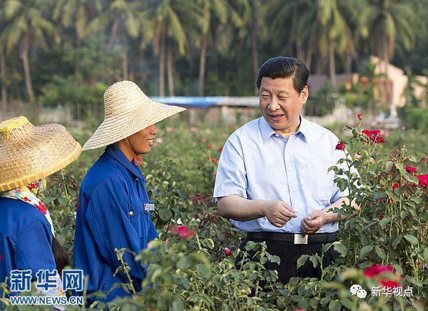 2013年4月,习近平在海南考察。新华社记者李学仁摄