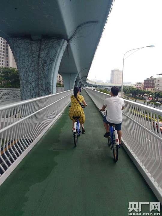 """探访厦门全球最长、中国首条""""空中自行车道""""(图)"""