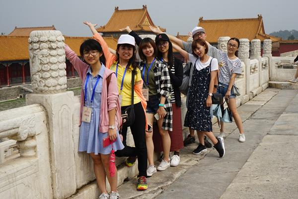 全国台联2017台胞千人夏令营游览故宫。