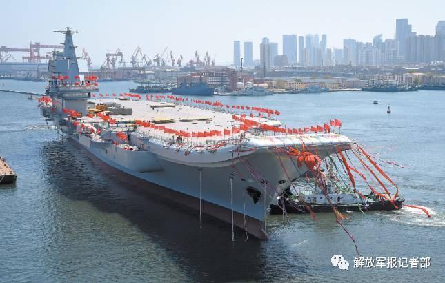 中国几艘航?_4月26日,我国第二艘航空母舰下水仪式在中国船舶重工集团公司