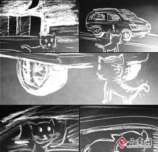小猫车底取暖被卡_昆明交警修车师父齐相救1.76大极品传奇(图)