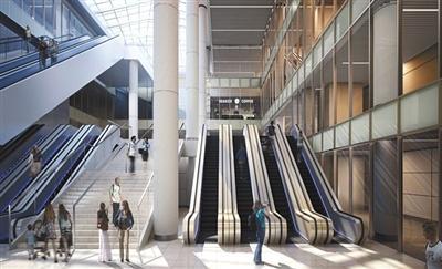 北京地铁国贸站增换乘大厅 明年底建成投用