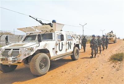 数十名武装人员闯入禁区 中国维和官兵将其驱离