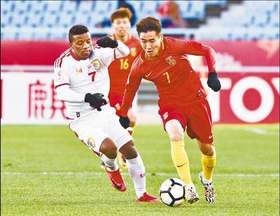 U23亚锦赛3∶0胜阿曼队 中国男足迎开门红