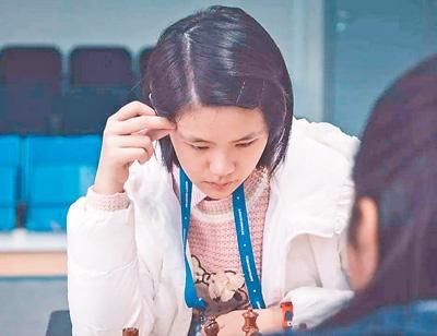 15岁国际象棋小将朱锦尔:世少赛夺冠一鸣惊人(图)