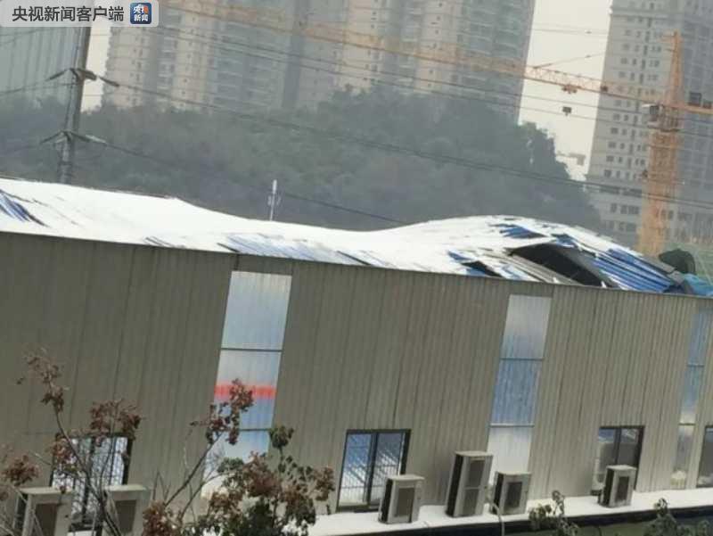 长沙大雪致一幼儿园屋顶钢架棚被压垮 未造成人员伤亡