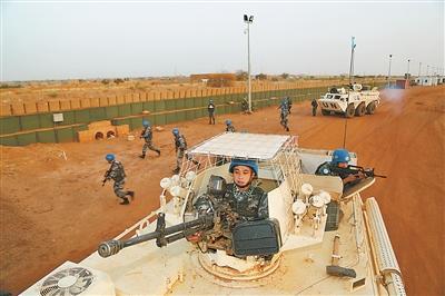 马里恐袭频发营区附近有战斗 中国维和官兵严阵以待