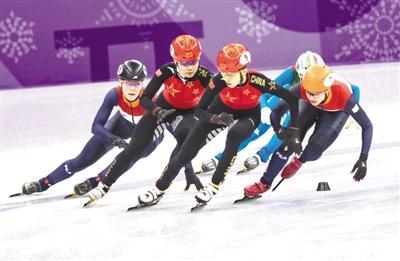冬奥短道速滑中国女队4分05秒315打破纪录