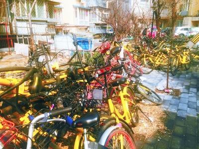"""共享单车禁入社区成共识 但""""单车山""""谁来及时搬?"""