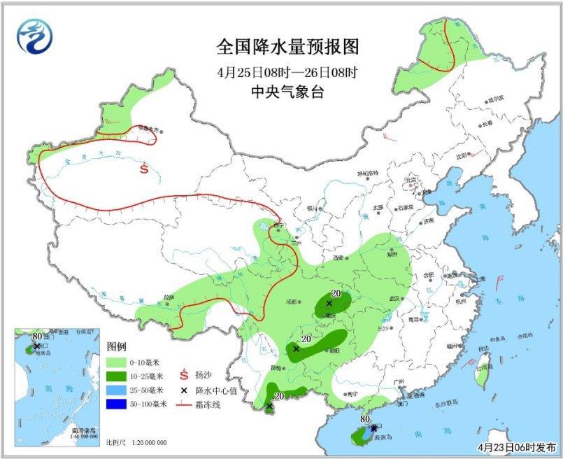 江南东部华南等地将有较强降雨 东部海区将有大风孤山寺北