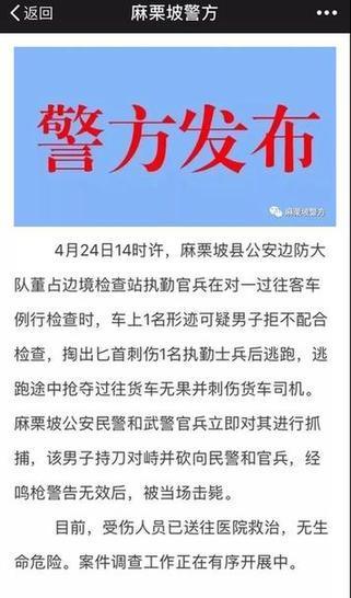 云南麻栗坡县发生持刀伤人案 嫌疑人被警方当场击毙肥西教育网