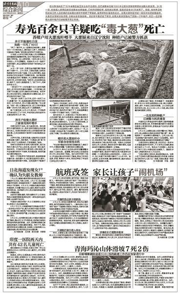 """山东寿光百余只羊食用毒大葱死亡案:两名种植户获刑""""山东寿光大葱毒死羊"""""""
