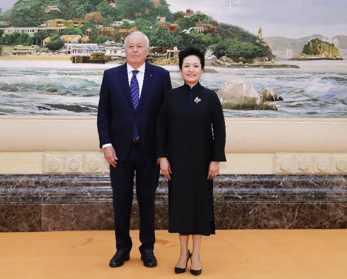新加坡金沙会娱乐城:彭丽媛会见法国梅里埃基金会主席阿兰・梅里埃