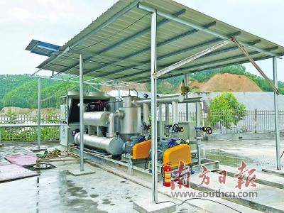 首个垃圾填埋场气体发电项目开始运行