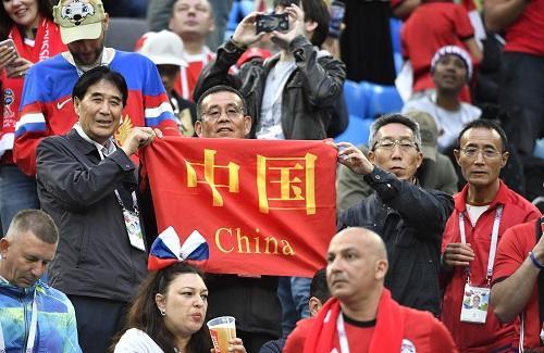 """中国夺冠""""旅游世界杯"""" 赴俄球迷居外国球迷之首345637"""
