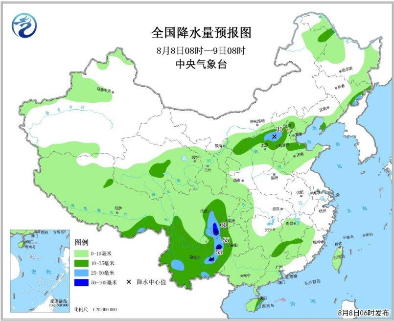 西南华南等地有较强降水 南方地区高温范围扩大