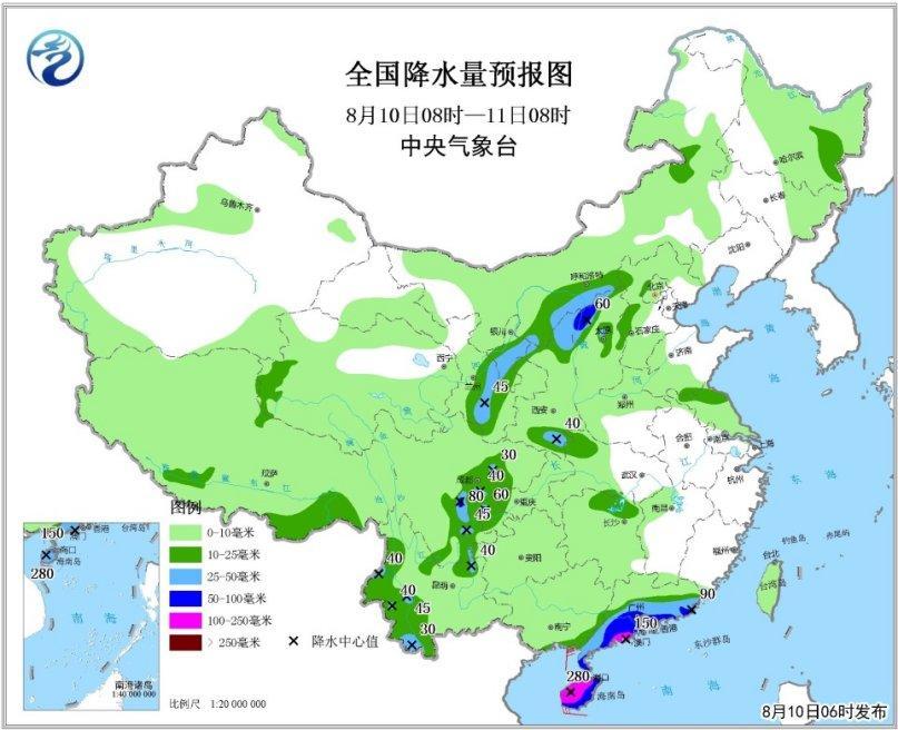 贵州西部,云南大部,江苏东部沿海,浙江东部,华南中南部,海南岛,西藏中