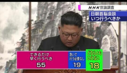 NHK:半数以上日本民众希望尽早举行日朝首脑会谈