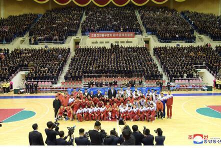 中朝男篮混合赛11日在平壤举行双方130-130战平