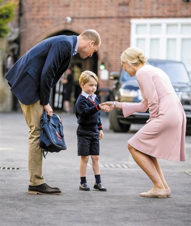 一年级的乔治王子 都学些什么?