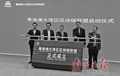 """粤港澳三地54家机构牵手 探索""""区块链+""""服务实体经济"""