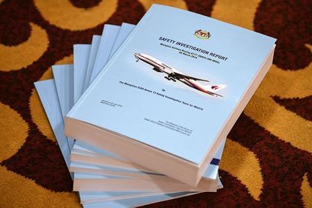MH370调查通知。视觉中国 图