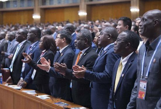 2018年9月3日,中非合作论坛北京峰会在北京人民大会堂隆重开幕。新华社记者 李涛 摄