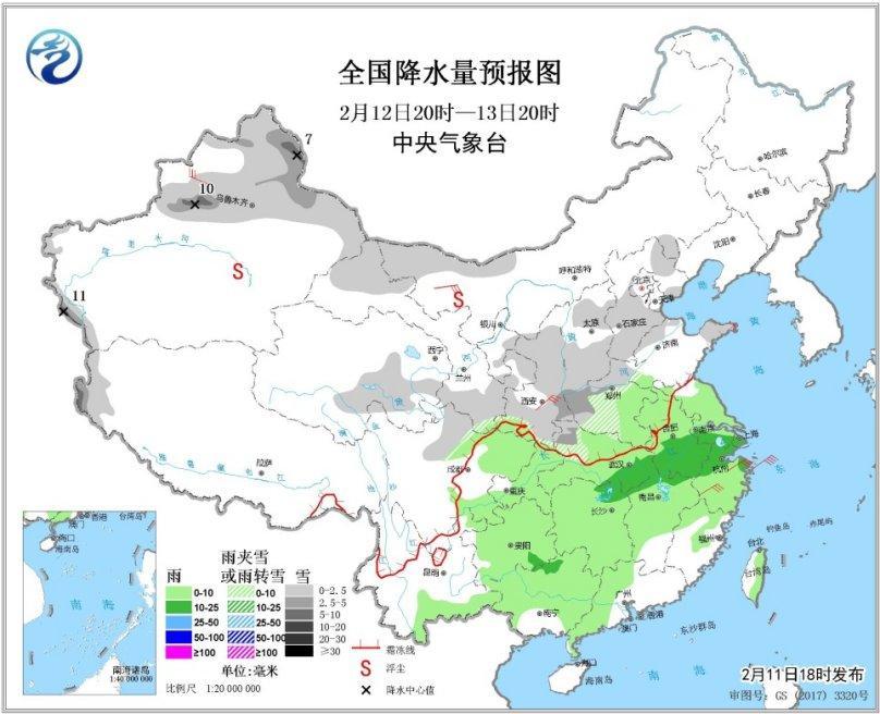 未来三天西北华北等地有降雪 南方多阴雨天气