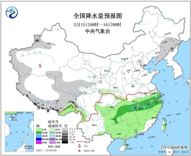 未來一周南方多陰雨天氣西北華北黃淮有降雪過程
