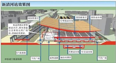 京张高铁清河站6月底主体完工