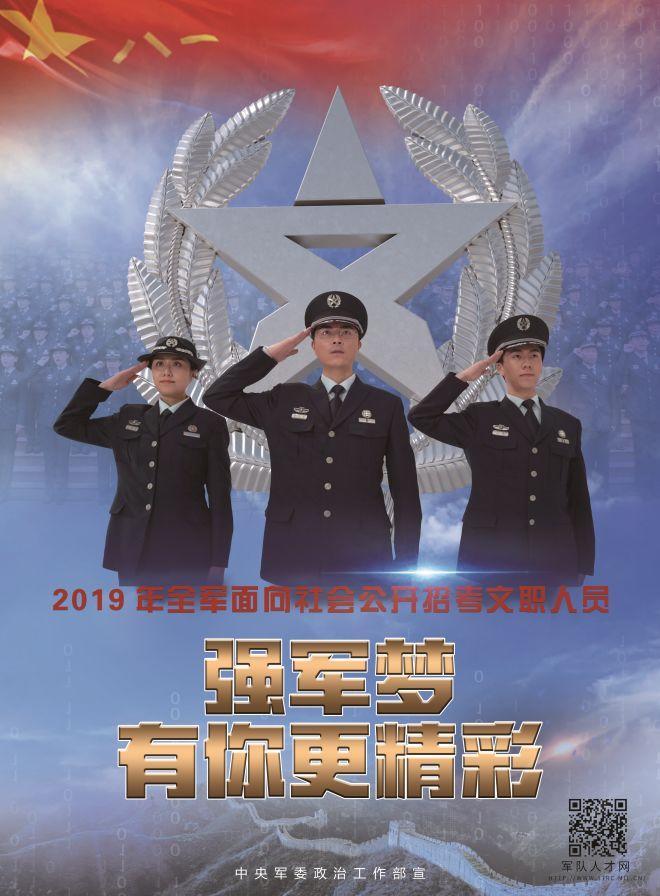 2019军队文职人员招林海无边考今起报名 怎么报名、考什么?