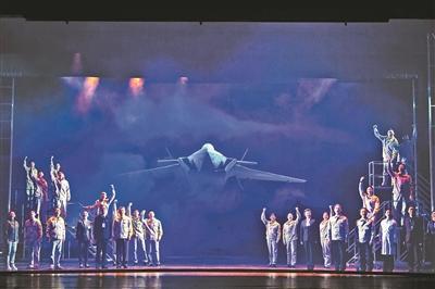 让新型战机翱翔九霄 看话剧《苍穹之上》