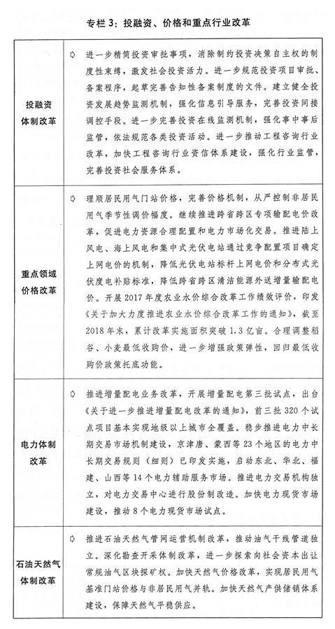 (图表)[两会受权发布]关于2018年国民经济和社会发展计划执行情况与2019年国民经济和社会发展计划草案的报告(专栏3)