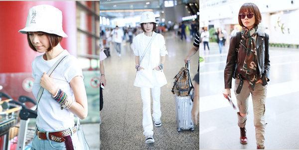 鲁豫机场造型获赞 时尚简洁大方