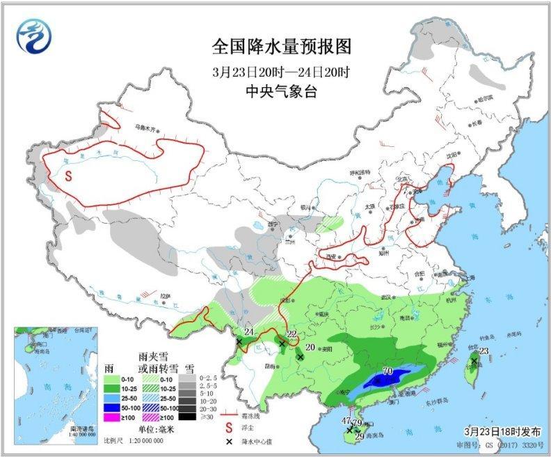华南地区将有中雨至大雨,局部可能伴有雷暴刮风天气你怎么看?