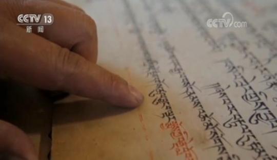布达拉宫殿堂管理科灯香组组长洛桑曲扎说,现在普查到的就是六世达赖喇嘛的非常珍贵的文献资料,这些文献很珍贵,起码有三百多年的历史,平时普查的时候很耐心、细心地去进行登记记录,因为这些我们工作人员努力做到最好,做到完美。