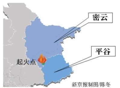 密云山火蔓延至平谷火情可控